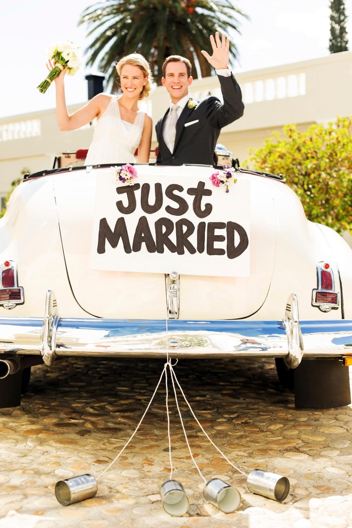 Just married tits on free show
